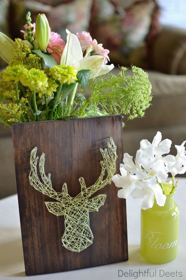 DIY Deer Head String Art. Get the tutorial