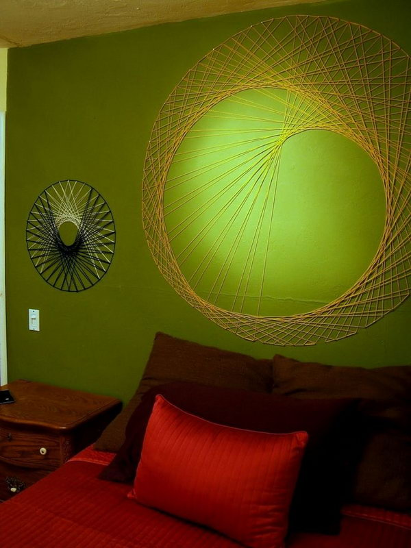 DIY String Wall Art. See the steps