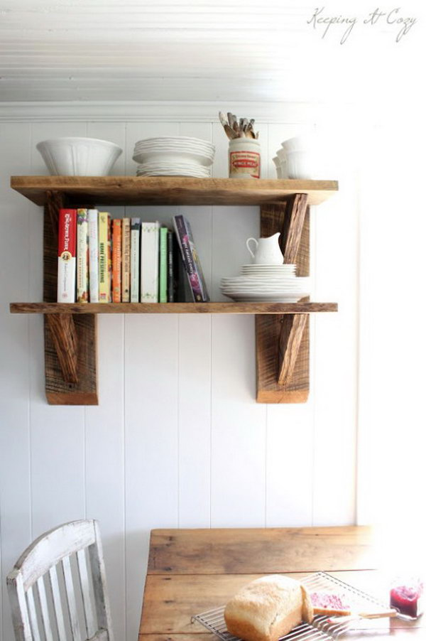 Reclaimed Wood Shelves. See the directions