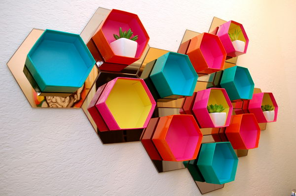 DIY Hexagon Shelf. Get the tutorial