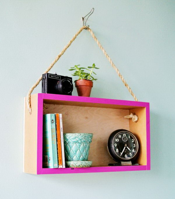DIY Hanging Shelf. Get the tutorial