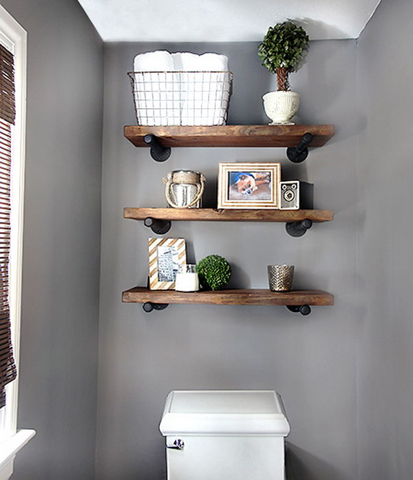 DIY Restoration Hardware Inspired Shelf. Get the details