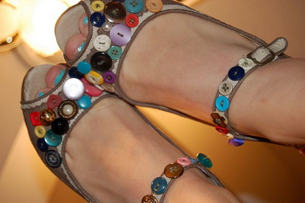 Button Accented Shoes. See more details