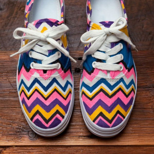DIY Missoni Sneakers. See more details