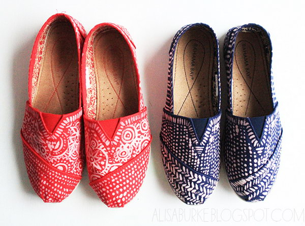 Bleach Painted Shoes. See the steps