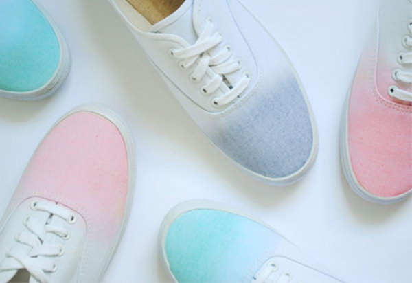 DIY Ombre Sneakers. See the directions