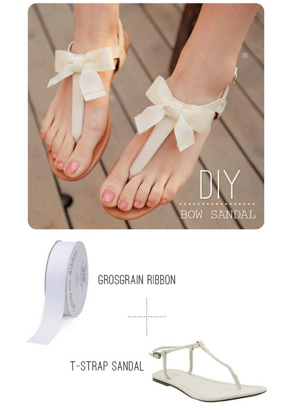 DIY Bow Sandals. Get the tutorial