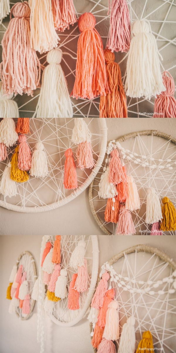 DIY able Giant Dream Catchers. Most girls who hang dreamcatchers in their rooms are quite spiritual and believe that the nice dreams will come near them and the bad spirits will go away. See more beautiful images