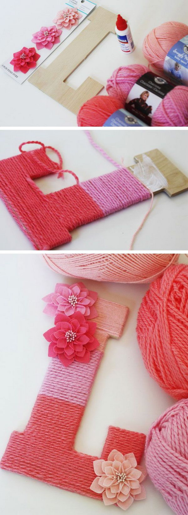 20 cute diy yarn crafts you can 39 t wait to do right away for Cute easy diy projects