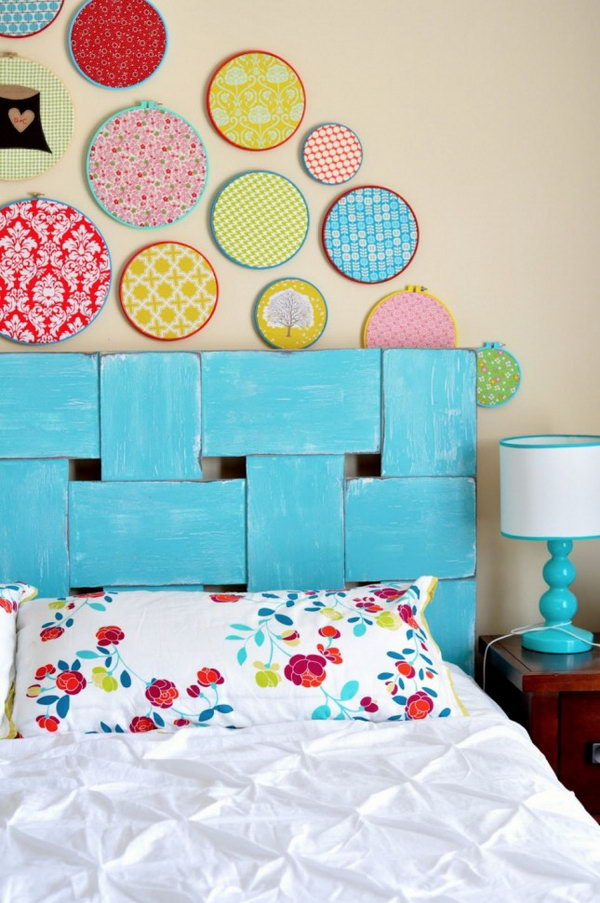 DIY Heavenly Headboard. See the tutorial