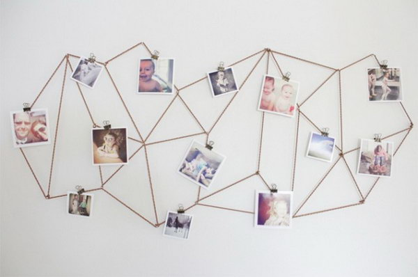 DIY Geometric Photo Display. Get more directions
