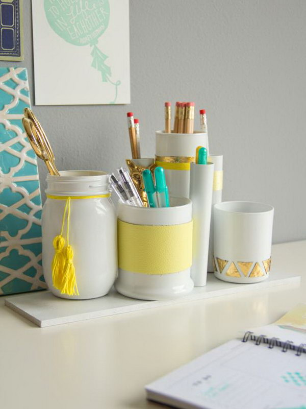 DIY Desk Accessories. Get the instructions