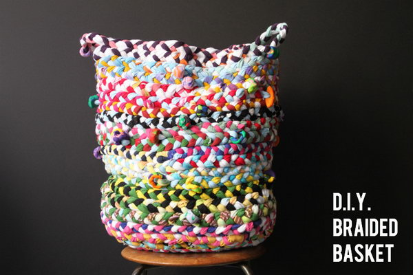 DIY Braided Basket. Get the directions