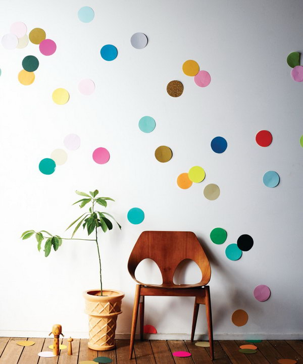 DIY Giant Confetti Wall. See how to make it