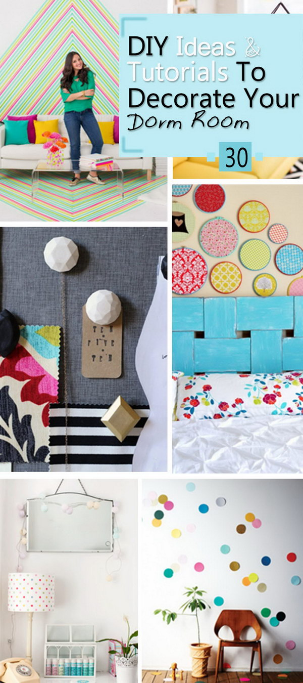 DIY Ideas & Tutorials To Decorate Your Dorm Room!