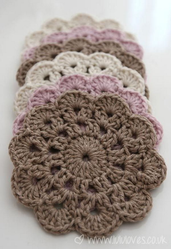 Crocheting Easy Projects : Beautiful Crochet Coasters. Make a beautiful set of crochet coasters ...