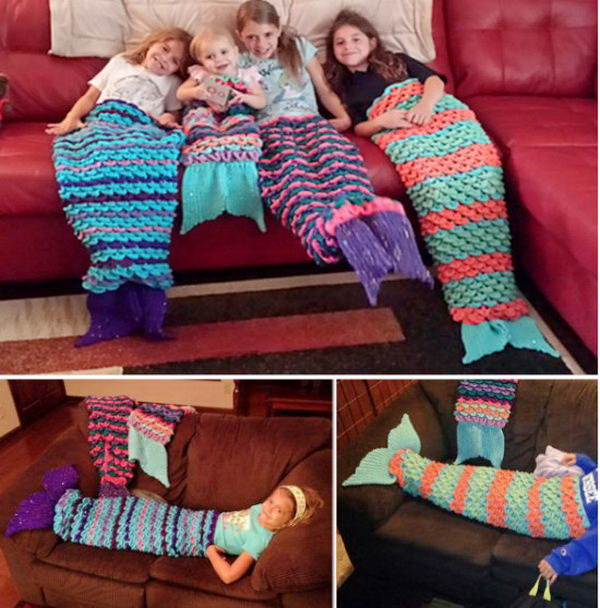 Crocheting Easy Projects : Crochet Mermaid Blanket. This fabulous crochet mermaid blanket is ...