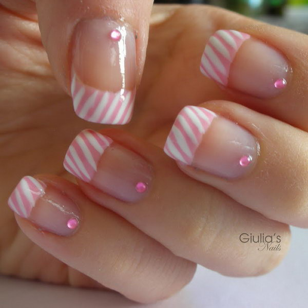 Candy French Tip Manicure. Get the video tutorial