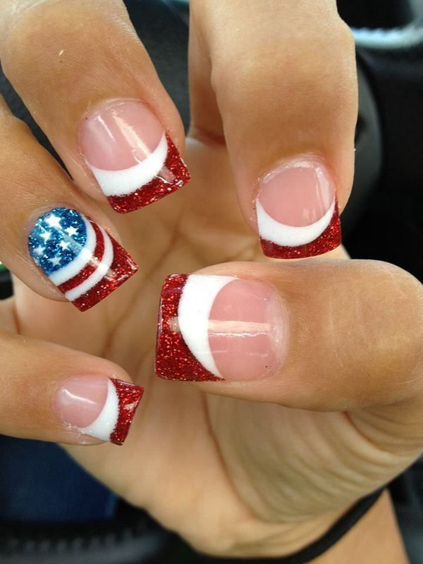 American Flag French Manicure.
