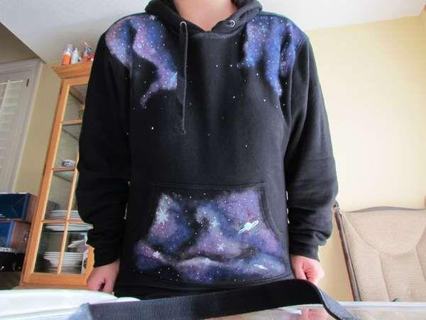 DIY Star Swirled Sweatshirts. Tutorial