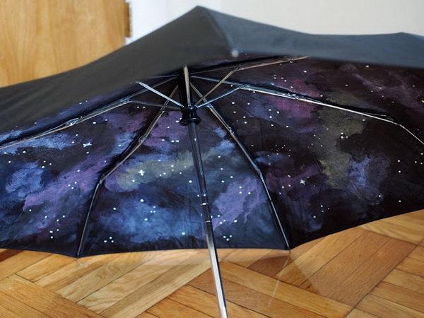 DIY Galaxy Umbrella. Tutorial