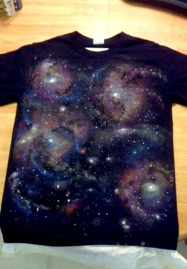 DIY Galaxy T shirt. Let's bring a little bit of outer space on your clothes. Tutorial