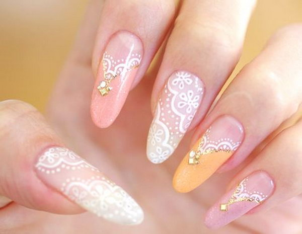 60 lace nail art designs amp tutorials for you to get the fashionable look noted list