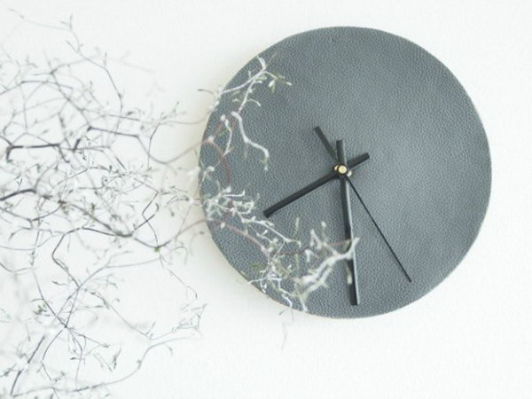 DIY Leather Wall Clock. See the tutorials