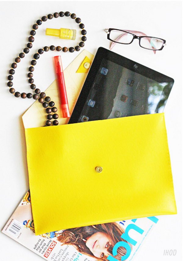 DIY Leather iPad Case. See how