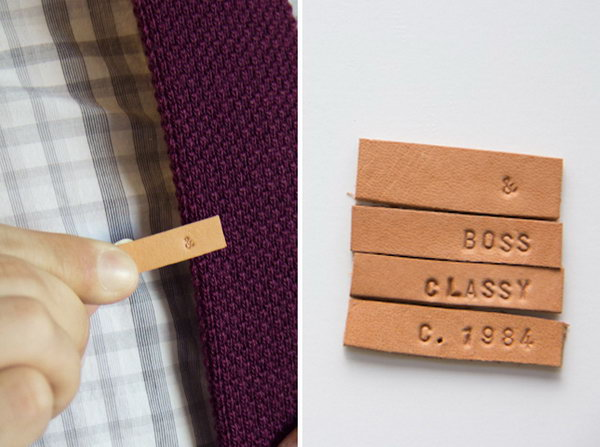DIY Stamped Leather Tie Clip. See how