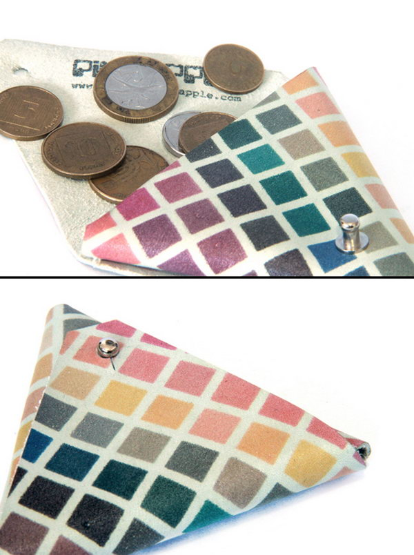 Triangle Coin Pouches. Get more directions