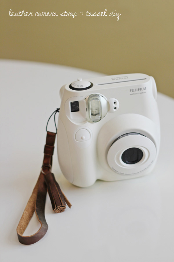 DIY Metallic Leather Camera Strap. See how to make it