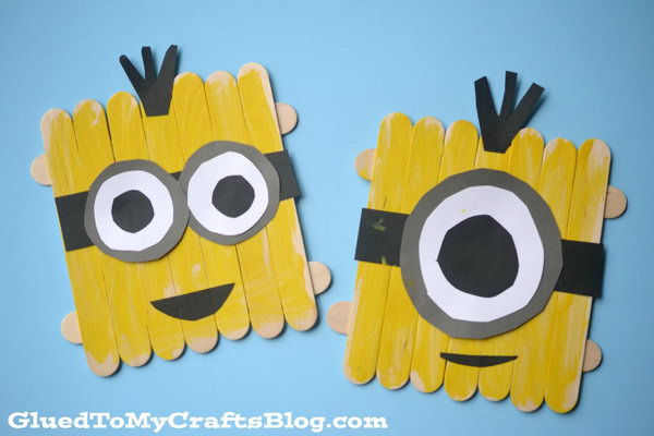 Popsicle Stick Minions. Get the tutorial