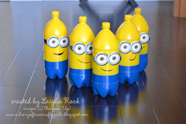 DIY Minions Made with Plastic Bottles. See more details