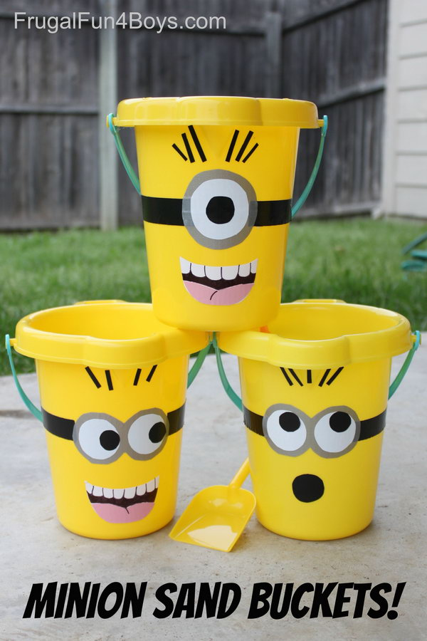 Minion Sand Buckets. See how to make it