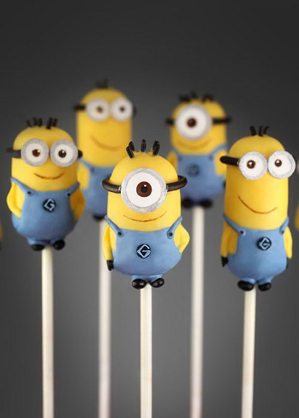 Minion Cake Pops. See the tutorial