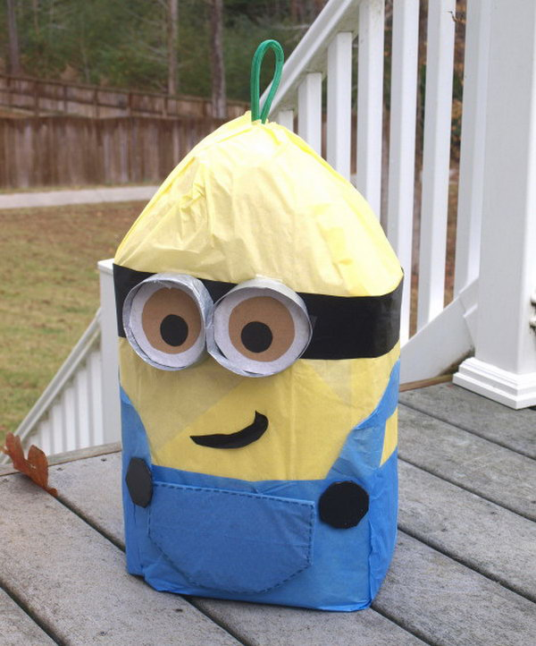DIY Minion Pinata. Get the steps