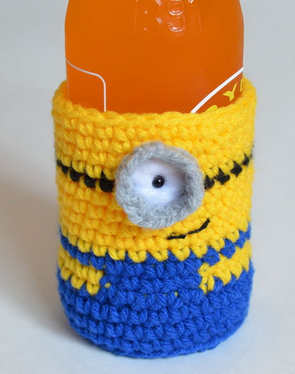 Minion Bottle Cozy. See more details