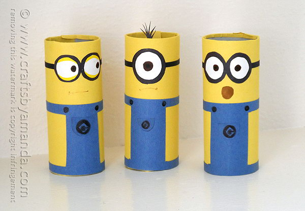 Cardboard Tube Minions. Get the tutorial