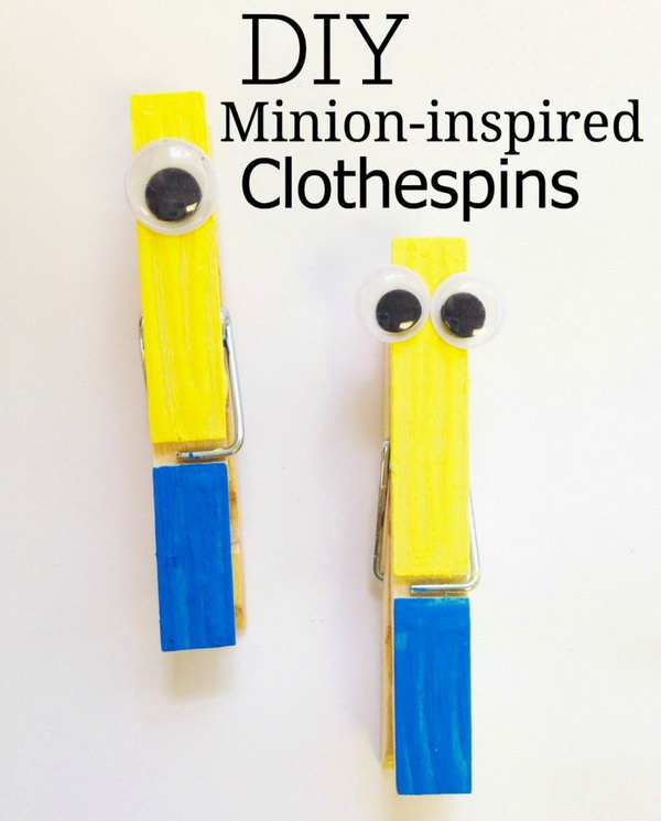 DIY Clothespin Minions. See how