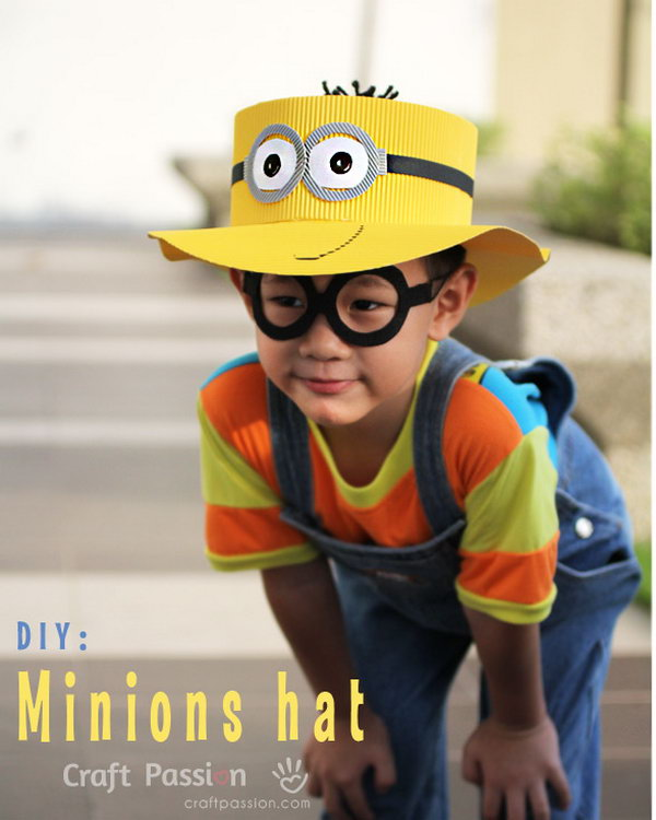 DIY Minions Hat. Get the steps