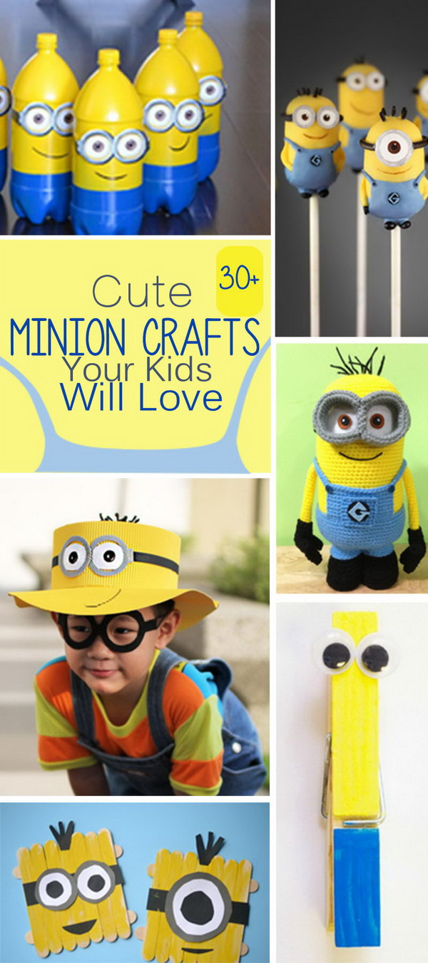 Lots of Cute Minion Crafts Your Kids Will Love!