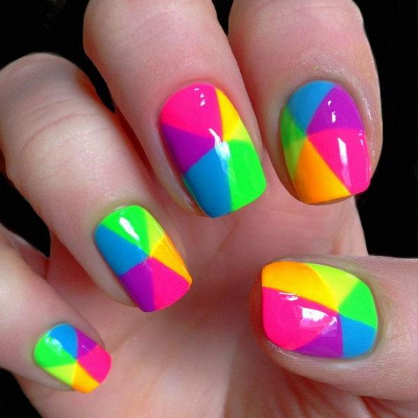 Neon Geometric Mani.