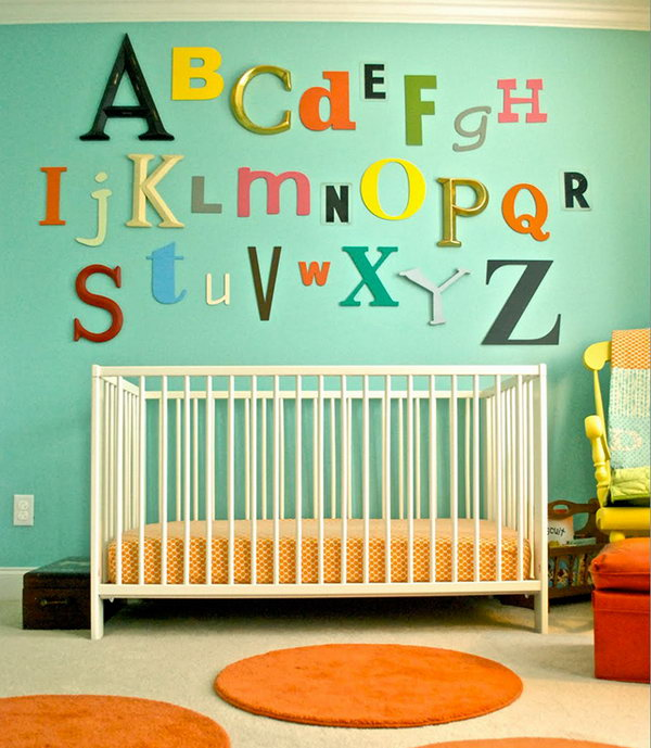 Mismatched ABCs Wall Art.