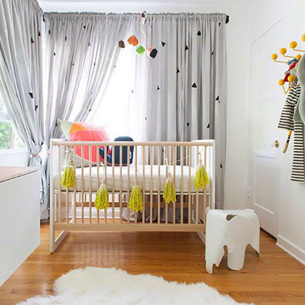 Modern and Playful Nursery.