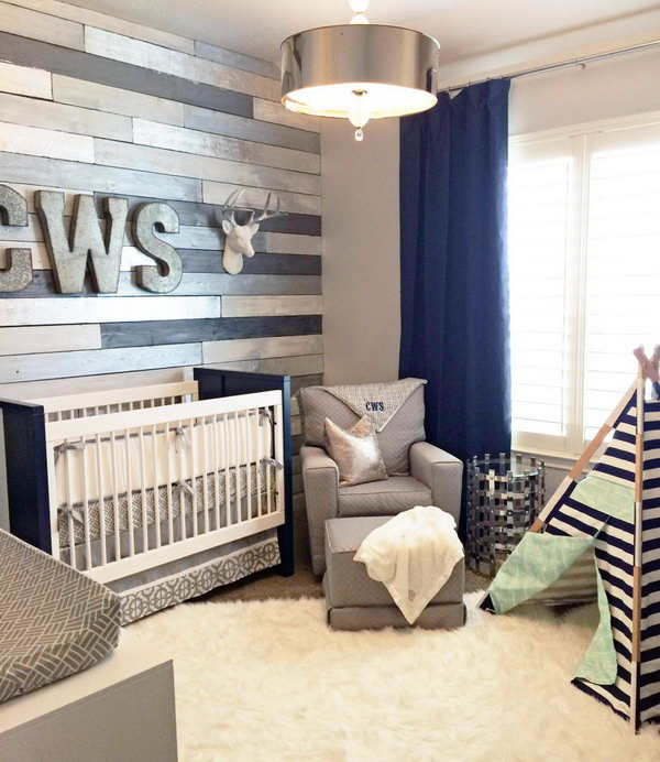 Awesome Metallic Wood Wall Nursery.