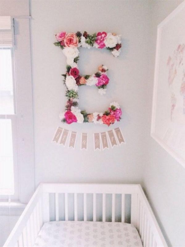 Custom Floral Letter.