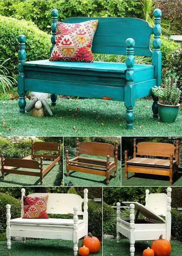 Turn Old beds into Wonderful Benches.