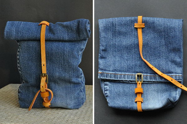 Denim Snack Bag. See the tutorial