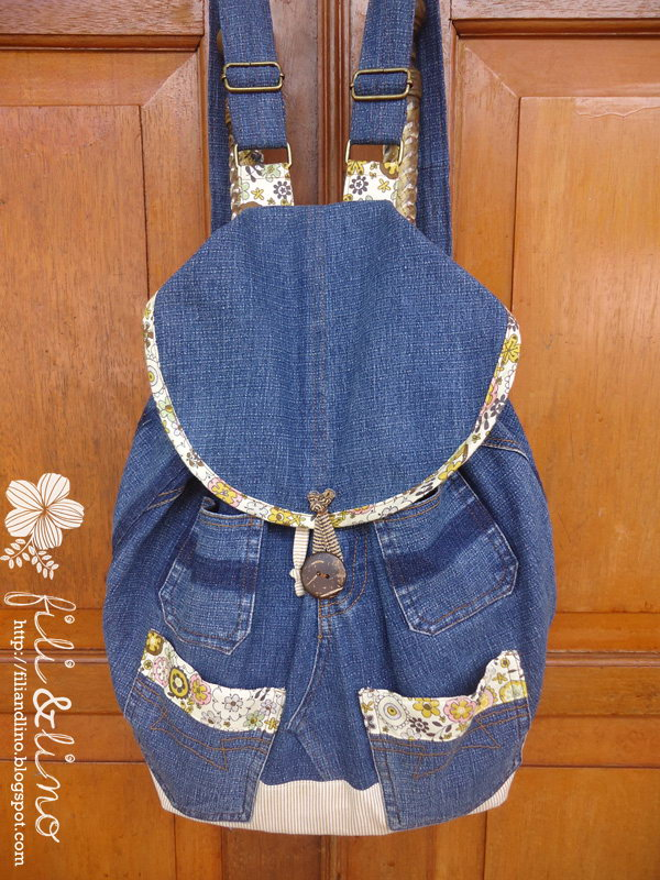 Recycle Jeans Backpack. Get the steps